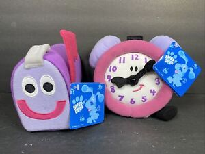 Vintage Eden Blues Clues Tickety Tock Clock & Mailbox Plush Soft Toy NEW w/ Tags