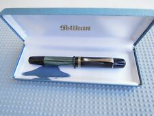 BEAUTIFUL VINTAGE GREEN MARBLED PELIKAN 100N  FOUNTAIN PEN !!!