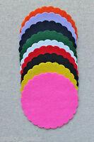 5PC - FELT Scalloped Circles  Die Cuts  8 Sizes Scrapbooking Felt - NOT a DIE