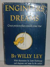 Willy Ley ENGINEER'S DREAMS Wind Sea & Solar Power Volcano Energy 1954 First ed.