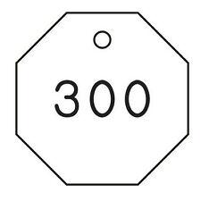 "Black & White Numbered Tag Set 22Cn60 Plastic Octagon 1-1/4"" 201 - 300"