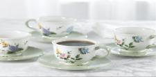 Princess House Vintage Garden Set 8 Pc. Teacups & Saucers 1438 HTF