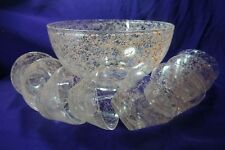 MID CENTURY GAY FAD PINK SPAGHETTI PUNCH or SALAD BOWL & 8 CUPS