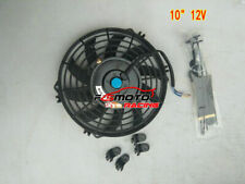 """10"""" inch 12V PULL/PUSH SLIM RADIATOR ELECTRIC COOLING THERMO FAN+MOUNTING KITS"""