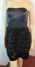NEW $380 PHOEBE COUTURE Kay Unger Black Silk Bow Rosette Cocktail Party Dress 6