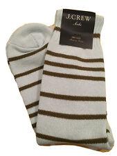 NEW J.Crew Blue Green Cloudless Sky Stripe Trouser Cotton Womens Socks One Size