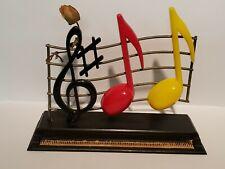 Vtg Plastic & Metal Piano & Music Notes Treble Clef Salt and Pepper Shaker Set