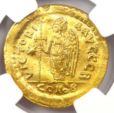 Byzantine Anastasius I AV Solidus Gold Coin 491-518 AD - Certified NGC Choice XF