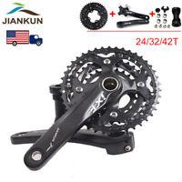 3X10S Triple Speed Crankset BB 104bcd Crank MTB Bike Chainring 24/32/42T Alloy