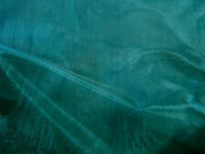 1m Hunter Green Sheer Organza Fabric 150cm Wide Wedding Craft Quality FREE PP