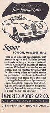 1955 JAGUAR XK-120  ~ ORIGINAL SMALLER IMPORTED MOTOR CAR CO AD