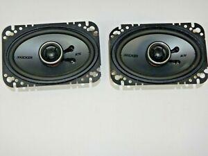 Kicker KS Series 4x6 Inch 75 Watt Coaxial 2 Way Speaker Pair KSC46 FREE SHIPPING