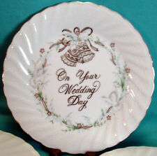 """1983 LEFTON CHINA """"On Your Wedding Day"""" LABELED Hand Painted PLATE 04777"""