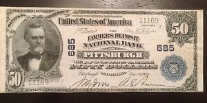 Reproduction $50 National Bank Note 1902 Farmers Deposit Bank Pittsburgh, PA