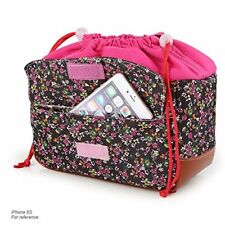 Koolertron Waterproof Partition Padded Camera Insert Bag SLR DSLR TLR Pink