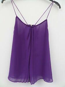 Pretty Purple Zara Trf Collection Chiffon Sleeveless Summer Party Top Size M 10