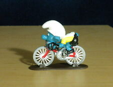 Smurfs Cyclist Bicycle Super Smurf Germany Vintage Figure PVC Toy Lot Peyo 40501