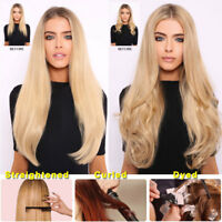 AAA+ CLEARANCE Clip in Human Hair Extensions Full Head 100% Real Remy Hair
