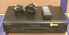 New listing Panasonic Pv-V462 4 Head HiFi Omnivision Vhs Vcr Player Remote Av Cable Cassette