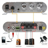 300W 12V Amplifier Boosters Radio MP3 Stereo for Car Subwoofer Home Hi-Fi 2.1