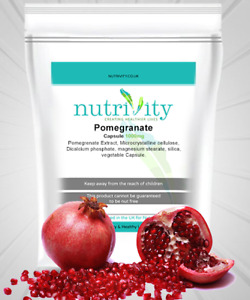 Pomegranate Extract 1000mg Veggie Capsules Nutrivity Powerful Antioxidant