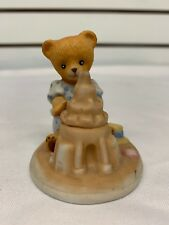 The Franklin Mint Fine Porcelain Emily Furdinand Brown Bear Figurine