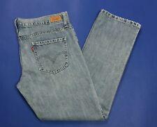 Levis boyfriend jeans donna usato vita bassa w38 tg 52 slim vintage blu T3203