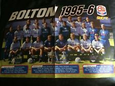 TEAM GROUP POSTER / FOTO DEL EQUIPO - BOLTON WANDERERS 1995-96 ISSUED BY SHOOT