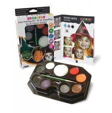 Halloween Witch Face Painting Kit Adults Kids Fancy Dress Make Up
