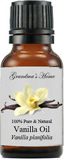 Vanilla Essential Oil - 15 mL - 100% Pure and Natural - Free Shipping