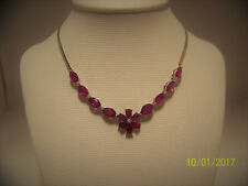 Brand new genuine Ruby Necklace set in 18k solid white gold.