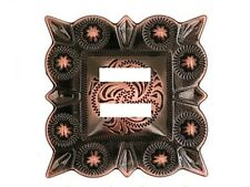 "Western Cowboy/Cowgirl Tack (6) Black Copper Plated 1 1/2"" Square Slotted Concho"