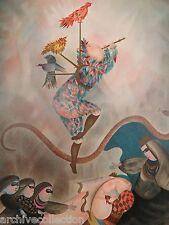 """Graciela Rodo Boulanger """"Magic Flute"""" Original Lithograph Art"""