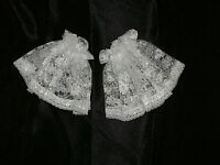 Lace Cuffs Short Frilly Victorian Shirt Ruffles Ruffs Georgian Edwardian 2 Color