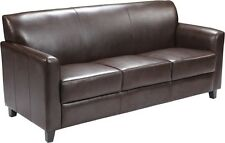 Diplomat Series Brown Leathersoft Sofa - Reception Guest lounge Furniture