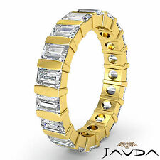 Diamond Ring 18k Yellow Gold 2Ct Womens Wedding Eternity Band Baguette Bar Set