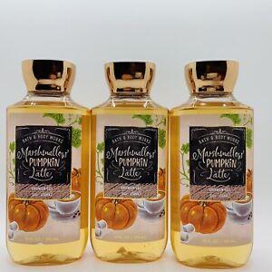3 Bottles Bath & Body Works Marshmallow Pumpkin Latte Shower Gel 10 fl.oz
