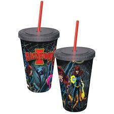 Marvel Comics Black Widow Retro Comic Art 16 oz Acrylic Travel Cup with Straw