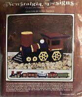 Newstalgia Designs Front Cab Train Locomotive Railroad Plastic Canvas Kit 1976