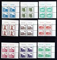 DDR 1990 postfrisch 4er Block Eckrand MiNr. 3344-3352 Bauwerke und Denkmäler