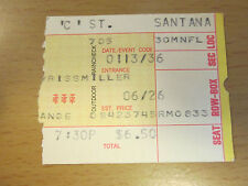1975 CARLOS SANTANA SAN DIEGO CONCERT TICKET STUB BLACK MAGIC WOMAN OYE COMA VA