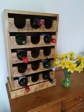 Upcycled Rustic Reclaimed Timber  Wine Rack,15 Bottle Floor/Table Standing..
