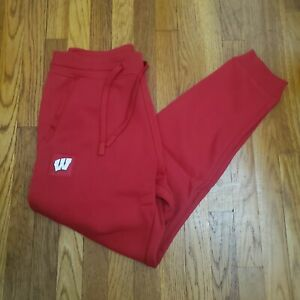 Under Armour Wisconsin Badgers Football Red Fleece Sideline Joggers Size L