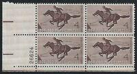 US Scott #1154, Plate Block #26624 1960 Pony Express 4c FVF MNH Lower Left