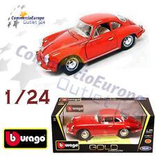 MODELLINO BURAGO PORSCHE 356 B COUPE' EPOCA SCALA 1/24 COLLEZIONE CLASSIC RED
