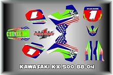 Kawasaki KX500  KX 500 88-04  SEMI CUSTOM GRAPHICS KIT PATRIOT
