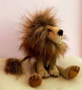 "Charlie lion sewing pattern.   11"" tall fabric lion to sew"