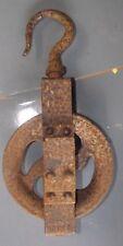 Ancienne Poulie metal usine Deco Industrielle Loft Vintage Atelier rea lampe