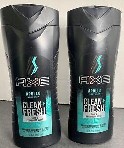 2 AXE Apollo Body Wash For Men, Sage And Cedarwood Scent, Clean + Fresh, 16 Oz