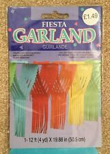 Multi Colored Fiesta Party Garland Decoration 12 Foot